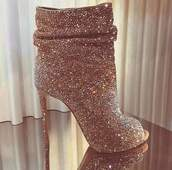 shoes,sparkle,glitter shoes,gold shoes,ankle boots