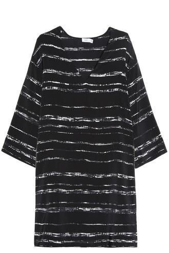 dress striped dress black