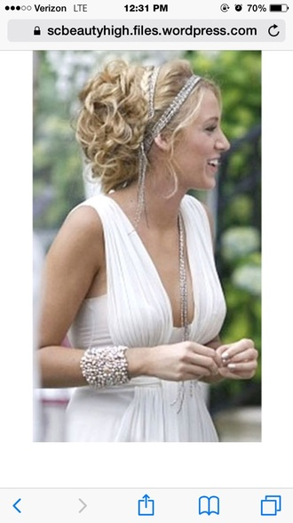 hair accessory gossip girl gossip girl headband hair prom serena bridal season 3 white party wedding accessories