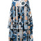 Chloé - floral peasant skirt - women - silk/cotton - 40, blue, silk/cotton
