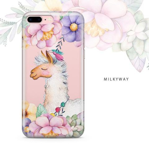 Milkyway Cases CLEAR TPU CASE COVER - FLORAL LLAMA