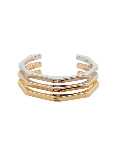 Fendi women bracelets grey metallic jewels