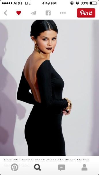 dress black selena gomez dress