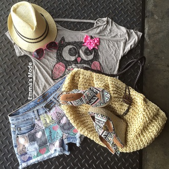 shorts beach woven wedges woven bag fedora summer outfits wedges shoes