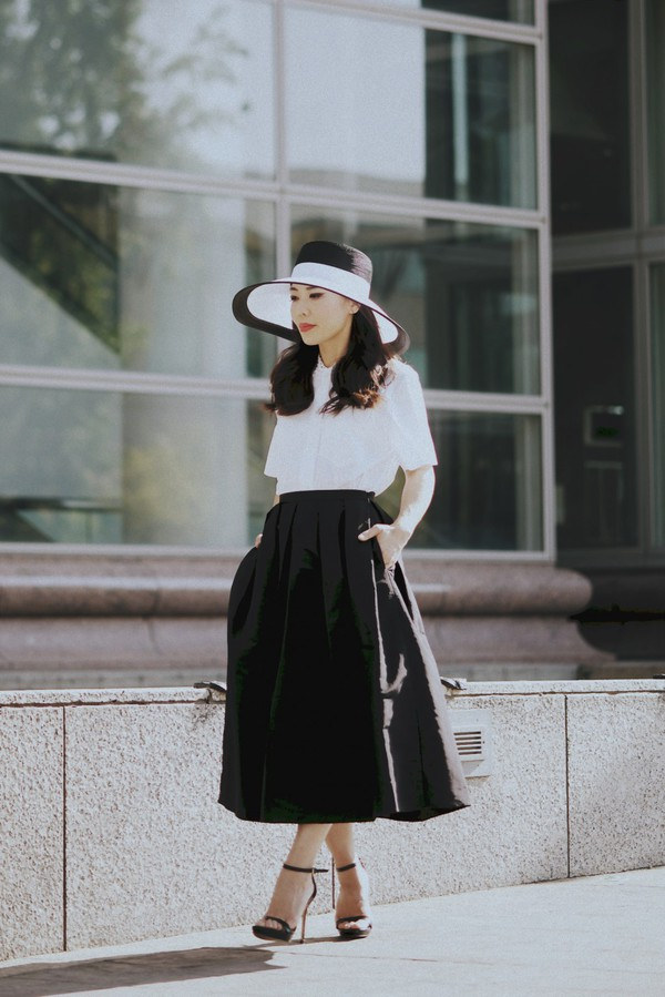 hallie daily shirt skirt shoes hat