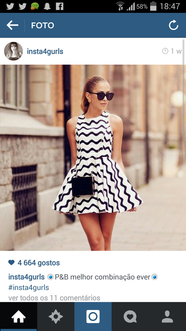 modern chic black and white dress classic