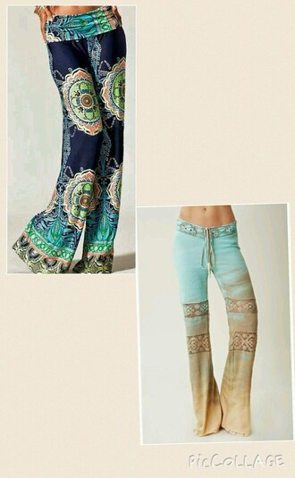 pants bootleg blended blue pants brown pants patterned pants