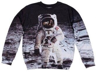 sweater science moon apollo space space print print printed sweater fall sweater winter sweater fullpriny fullprint all over print crewneck sweatshirt full print sweater fusion sdad