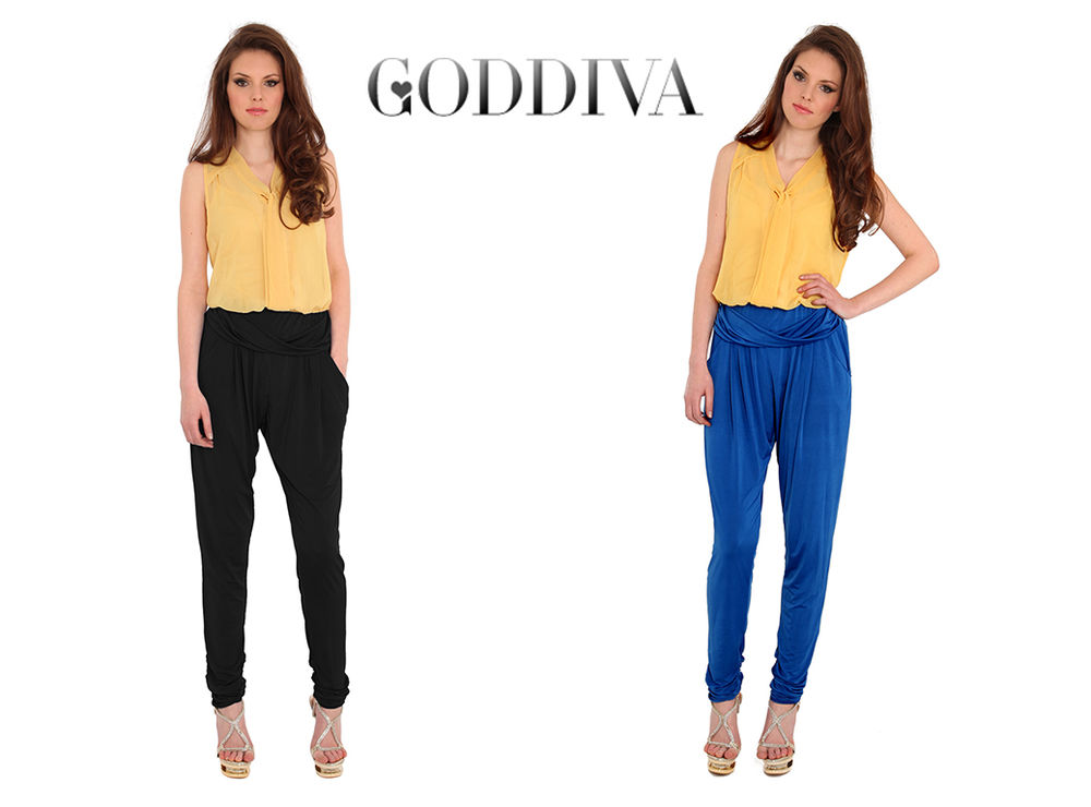Goddiva Draped Harem Pants | eBay