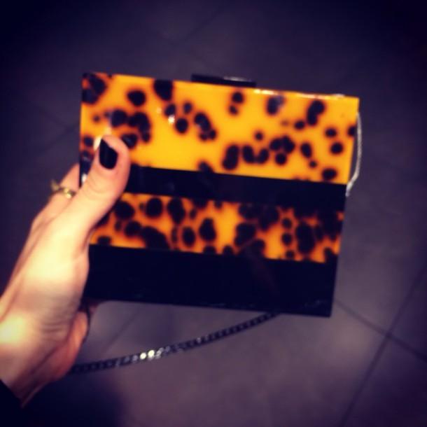 bag leopard clutch