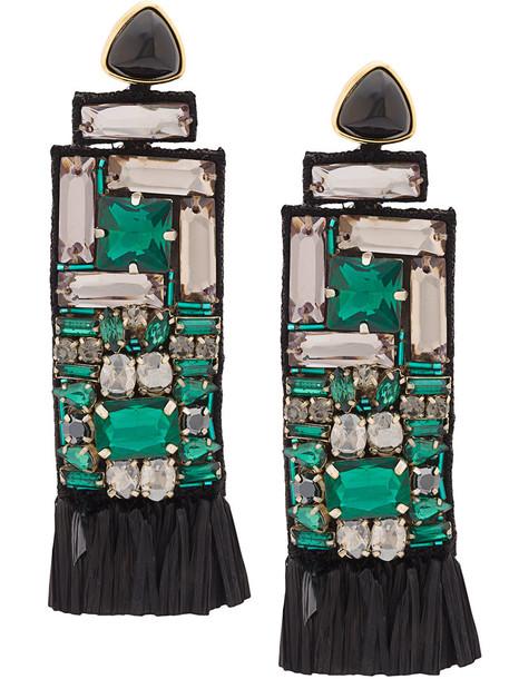 LIZZIE FORTUNATO JEWELS women earrings gold green jewels