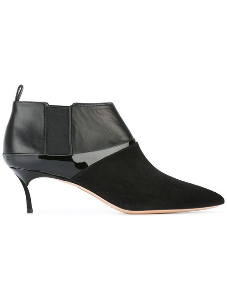CASADEI women boots ankle boots leather black shoes
