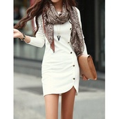blouse,buttons,side buttons,casual dress,dress,white dress,cute dress,casual dressy,summer dress,long sleeve dress,cardigan,shoes,scarf,button up dress,bag,office outfits,peacoat dress,button dress,formal button dress,short,white,clothes,gold buttons,fall dress,women,summer outfits,style,classy,party dress,necklace,jewels,sexy dress,bodycon dress,streetwear,streetstyle,pouch,cute,cute skirt,button,white button down,irregular hem,button up,sweater,jewelry,long sleeves,girly,pretty,white dress with buttons on side,work dress