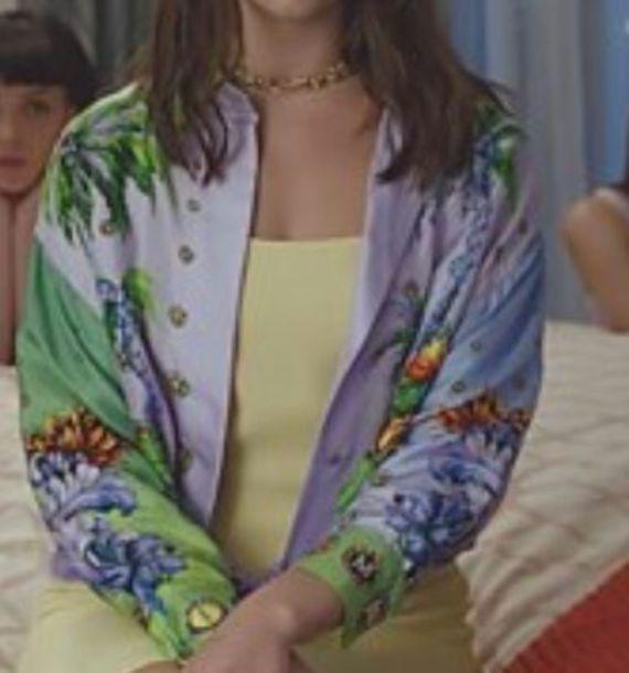 blouse chemise tropical top dua lipa