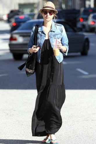 dress black dress whitney port maxi dress