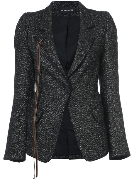 ANN DEMEULEMEESTER jacket women black wool