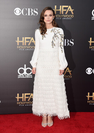 dress white dress keira knightley gown