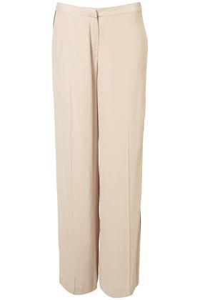 Pantalon large haut de gamme avec rayure sur le cã´tã©