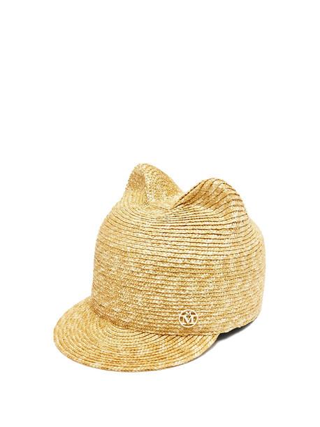 MAISON MICHEL Jamie straw hat in beige / beige