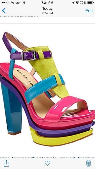 shoes calypso platforms colorblock giannibinni