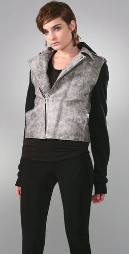 Alexander wang denim leather combo jacket