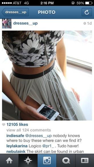shirt boho maxi maxi skirt crop tops bustier front zip daisy cute summer chic skirt