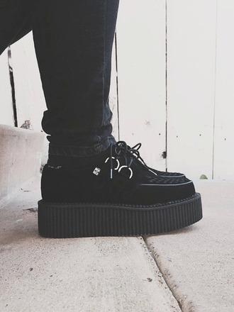 shoes black platform shoes black platform sneakers platform sneakers grunge