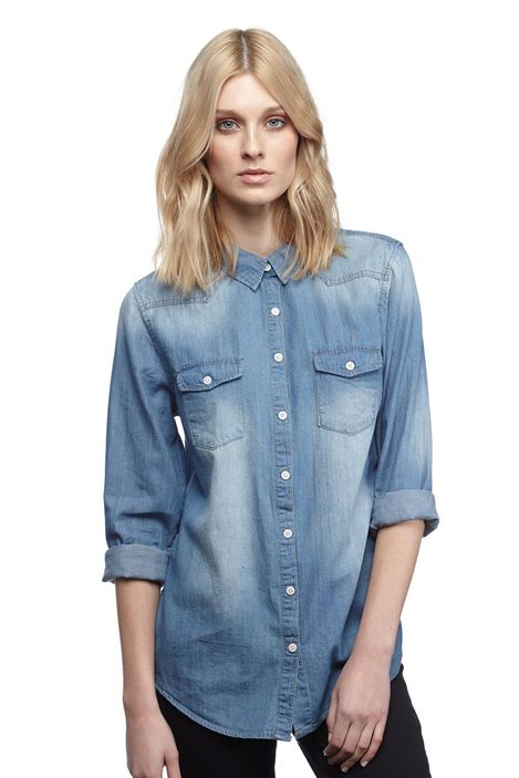 roxanne denim shirt | Cotton On