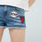 Patched denim short - women | mango usa