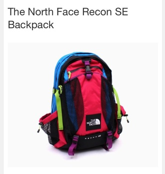 bag north face backpack colorful cute rare