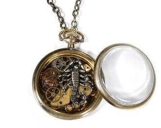 jewels steampunk jewelry locket scorpion