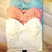Bow bustier (4 colors) · lindsayvoitton's closet · online store powered by storenvy