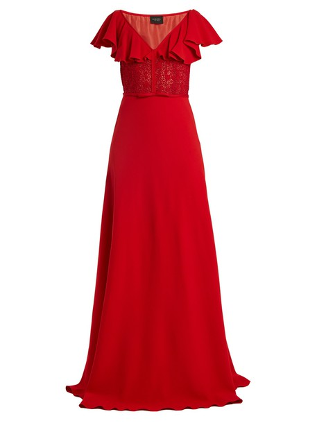 gown back red dress