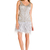 Sue Wong Platinum Beaded Feather Skirt Dress