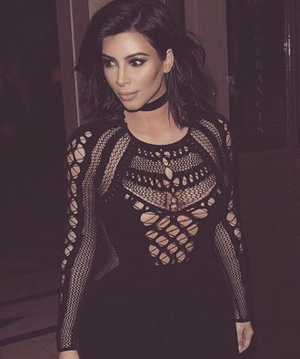 dress black dress lace dress jewels jewelry necklace choker necklace black black choker grunge grunge jewelry kim kardashian kardashians kim kardashian style