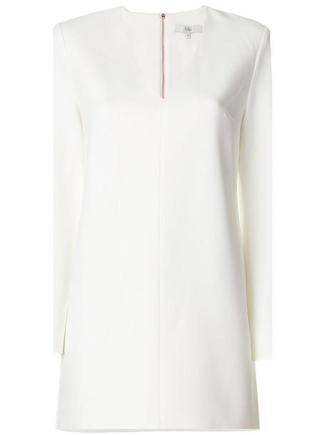 Tibi dress women spandex white