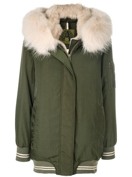 Alessandra Chamonix coat fur women dog green