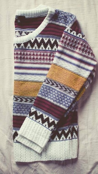red sweater laine wool sweater