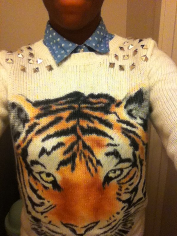 sweater tiger face