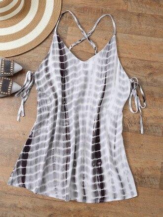 dress festival cool summer beach spring tie dye coachella zaful
