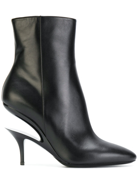 MAISON MARGIELA women ghost ankle boots leather black shoes