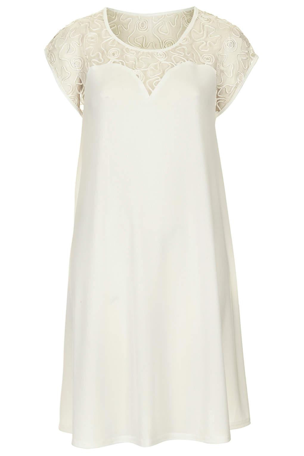 **White Cornelli Slinky Swing Dress by Rare - Dresses - Clothing