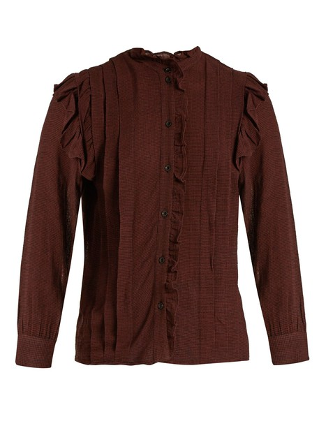 blouse burgundy top