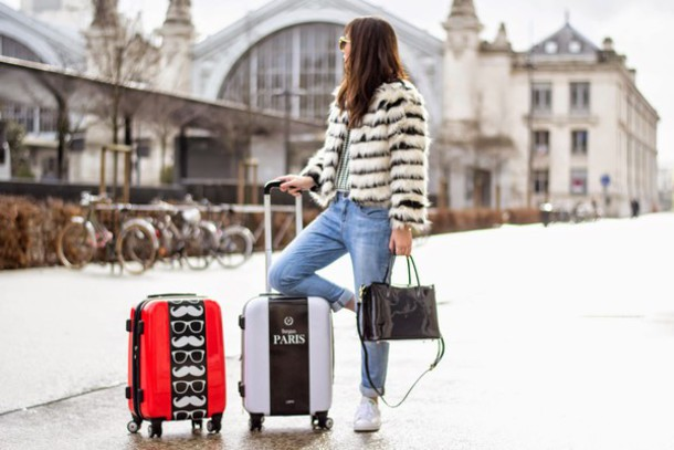 meet me in paree blogger bag jeans coat shoes sweater