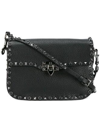 women bag shoulder bag leather suede black