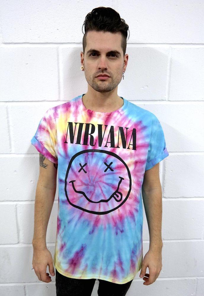 Shirt vtg kurt cobain courtney love punk rainbow 90s