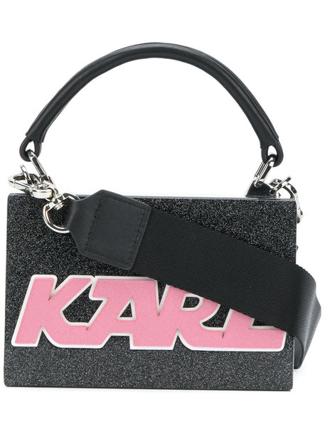 karl lagerfeld mini women bag leather black