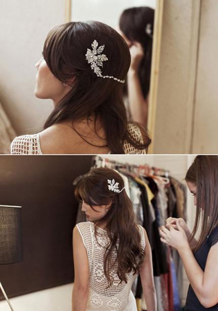 wedding clothes hair accessories hair piece head piece hairstyles ...