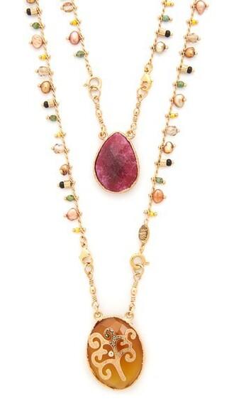 necklace beige jewels