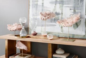 home accessory burke decor sand beach beach house gemstone sand hourglass clock home decor